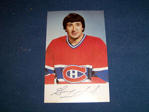 GUY LAPOINTE-1970'S COLOR PHOTO-NHL HOCKEY-SIGNATURE STAMPED