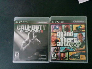 PS3- Used Grand theft Auto 5 and Black ops 2
