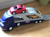 Little tikes transporter and cars Sold!