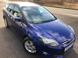FORD FOCUS 1.6TDCi DIESEL ECOnetiC TITANIUM NAVIGATOR £35 WK £0 TAX ESTATE 2013