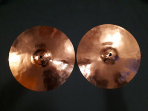 "Paiste Dixie 14"" vintage B8 hi hat cymbals for trade"