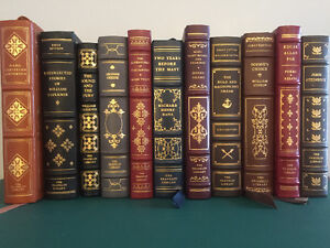 19 leather-bound Franklin Library books.