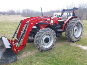 CASE 75A LOADER TRACTOR- LIKE NEW & VERY LOW HOURS