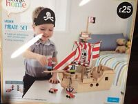 Wooden pirate ship brand new