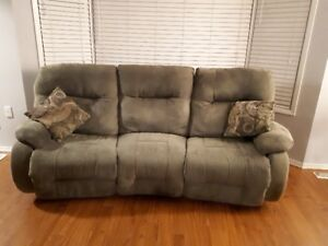 Couch in reasonable shape reclines too