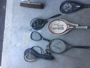 Multiple tennis and squash racquets for sale!!!!