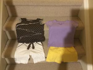 7 pc Set of Girl's Summer Clothes sz 4 (Gymboree, GAP, H&M, etc)