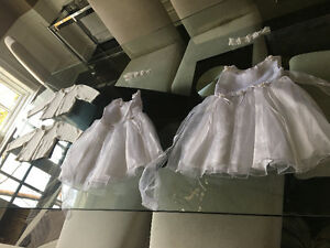 Twin girl baptism dresses and accessories