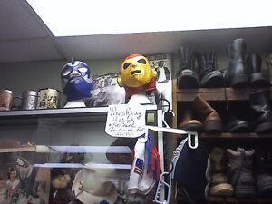 Mexican WRESTLING MASKS/HEARTBEAT Thrift Store/for AFCB