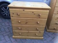 BARE PINE CHEST OF DRAWERS