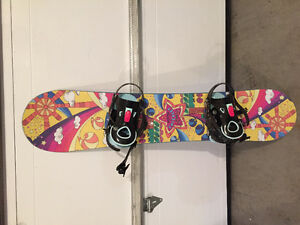 Girl's Burton Snowboard - 130cm with Ride bindings