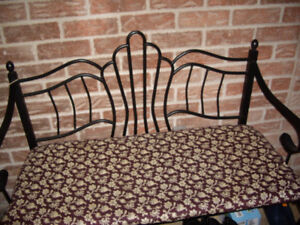 Brand new condition beautiful metal two seat ENTRANCE bench with