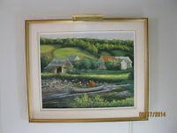 À vendre Huile sur toile du peintre de Charlevoix Mario Bouchard
