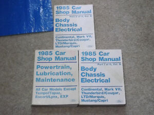 Factory Ford Service Manuals Set 1985 Cars Belleville Belleville Area image 1