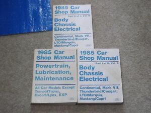 Factory Ford Service Manuals Set 1985 Cars Belleville Belleville Area image 1