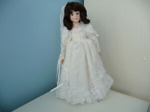 Porcelain Doll With Stand And Original Box - 4 To Choose From London Ontario image 3