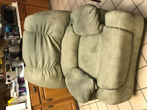 Free recliner. Works fine. Needs cleaning.
