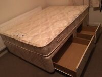 Quality double divan bed with drawers-Free delivery