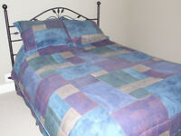 Mint condition Deep Pocket Queen Bed, and head board