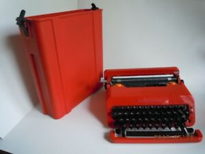 Cute vintage Olivetti Valentine Typewriter with case