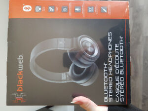 Wireless bluetooth headphones blackweb