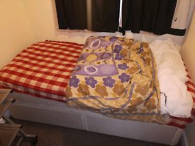 Single bed with storage +memory foam mattress