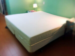 Sleep Country Tempur-Pedic memory form mattress king size bed