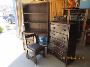 childrens dresser and shelf unit with chair