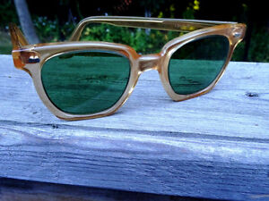 nerd 1950s-60s PARMELEE uk SAFETY GLASSES industrial STEAMPUNK Cambridge Kitchener Area image 6