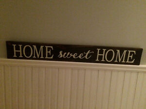Handmade wood sign