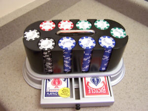 BICYCLE POKER SET - 250 chips - 2 decks and carry case