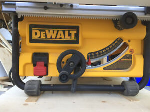 Dewalt 7480 table saw with infeed and outfeed table