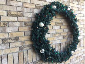 Huge outdoor green wreath