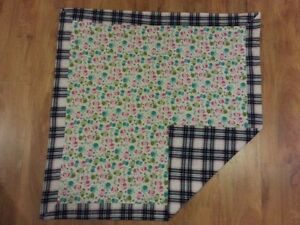 Homemade flannel baby blankets