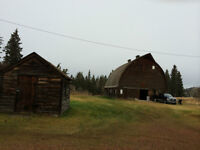 A Barn and few sheds to be removed