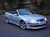 EXCELLENT RARE MODEL!!! 2004 SAAB 9-3 2.0 T AERO 210 2dr AUTO CONVERTIBLE, 1 YEAR MOT, WARRANTY