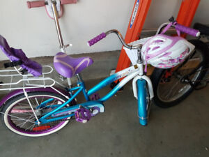 Girls bike 16 inch, scooter and training gear
