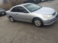 2005 Honda civic  DX Coupe (2 door) very clean car