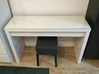Ikea Malm Dressing Table with stool