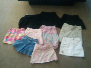 10 girls skirts. Size 5/6t. Barely worn.