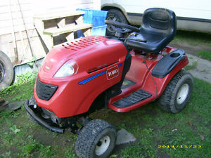 Newly reconditioned lawn tractor