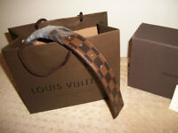 Brand New Louis Vuitton Damier Brown Real Leather Belt