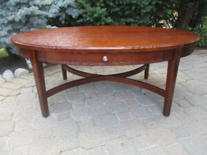 Classy Oval Coffee Table-Make an offer!