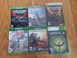 6 Xbox One/360 Games/Jeux