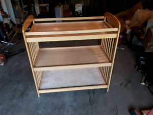 solid  wood baby changing table