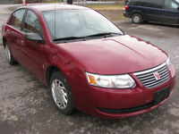 2007 Saturn ION SAFETY AND E-TEST DONE $3350  102000km