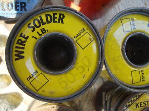 50/50 & 100% Tin solder (NEW PRICE )