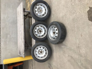 Snow tires and rims for Volkswagen