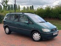 VAUXHALL ZAFIRA 1.8 PETROL PX TO CLEAR 7 SEATER
