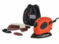 Black & Decker KA161BC Mouse® Detail Sander & Sanding Sheets Ideal stocking filler xmas gift set